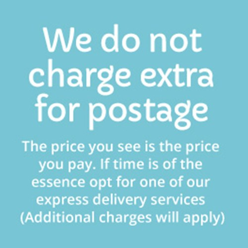 we do not charge extra for postage
