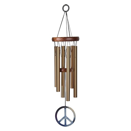 Woodstock Bronze Peace Wind Chime - Small