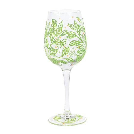 Izzy & Oliver Wine Glass - Spring Leaves