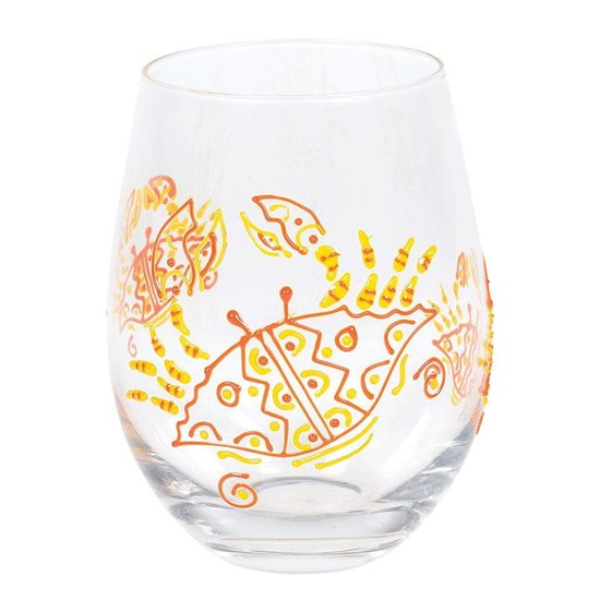 Izzy & Oliver Red Crab Stemless Glass