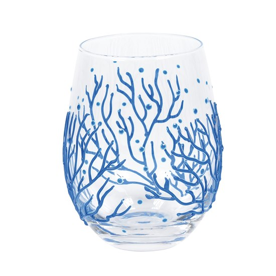 028399257089 Izzy & Oliver Coral Stemless Glass