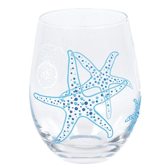 Izzy & Oliver Starfish Stemless Glass