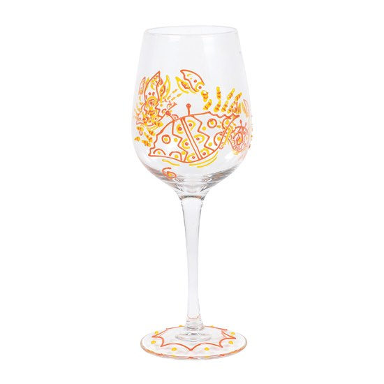 Izzy & Oliver Wine Glass - Red Crab