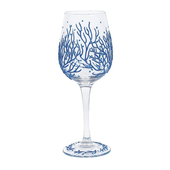 Coral Izzy & Oliver Wine Glass