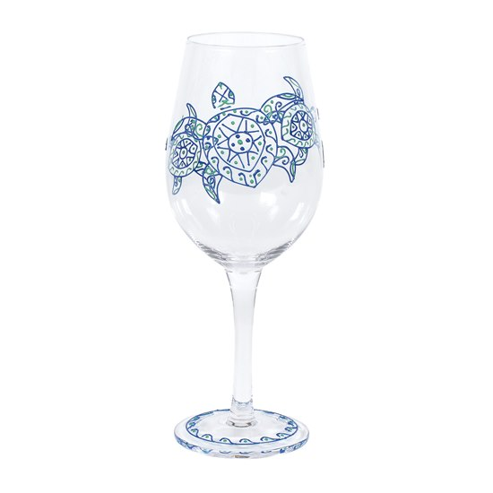 Izzy & Oliver Wine Glass - Sea Turtle