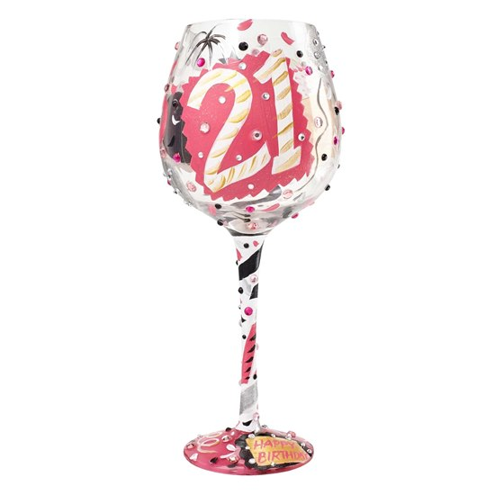 Lolita Super Bling 21st Wine Glass