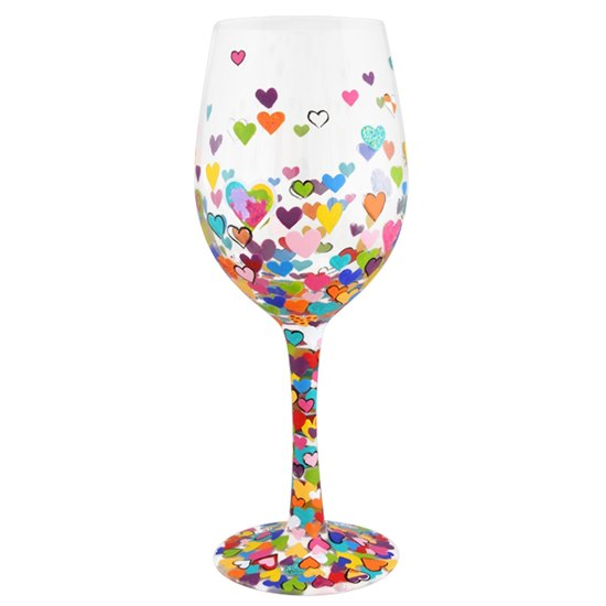 Hearts a Million Lolita Wine Glass