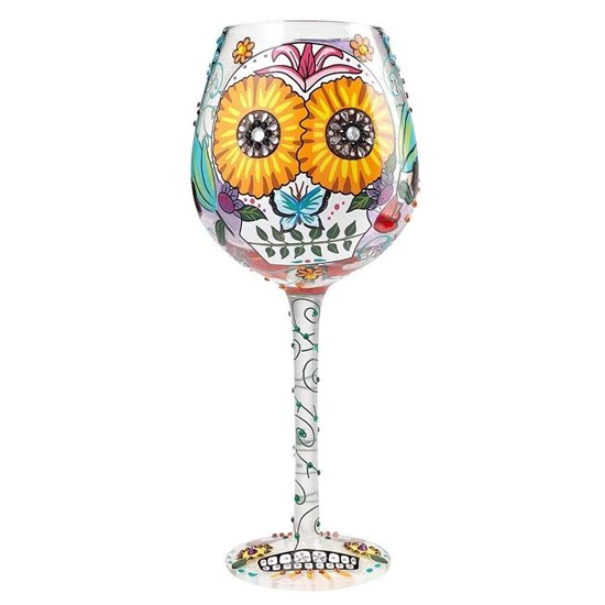 Lolita Super Bling Sugar Skulls Wine Glass