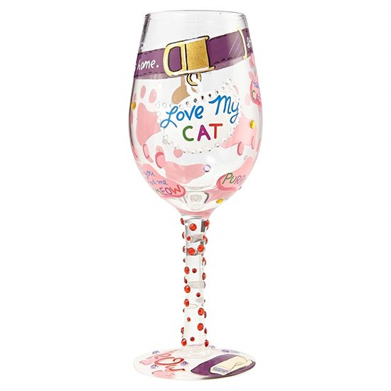 Lolita Love My Cat Wine Glass