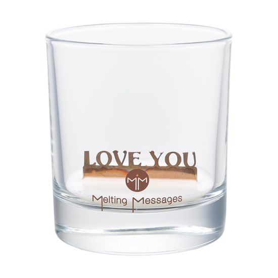 Love You Scented Candle - Hidden Message