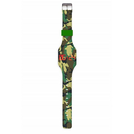 5060478785118 Camouflage Digital Silicone Touch Watch