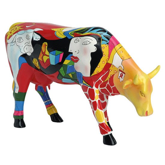CowParade Hommage To Picowso's African Period Large 46170