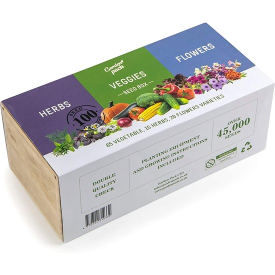 Garden Pack 100 Varieties Seed Box