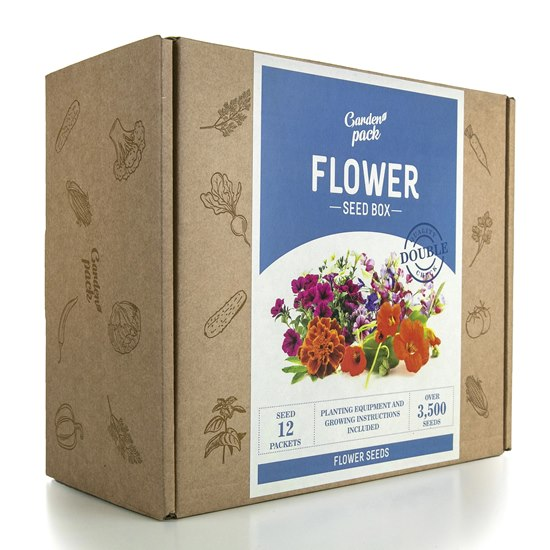 Garden Pack Flower Seed Box