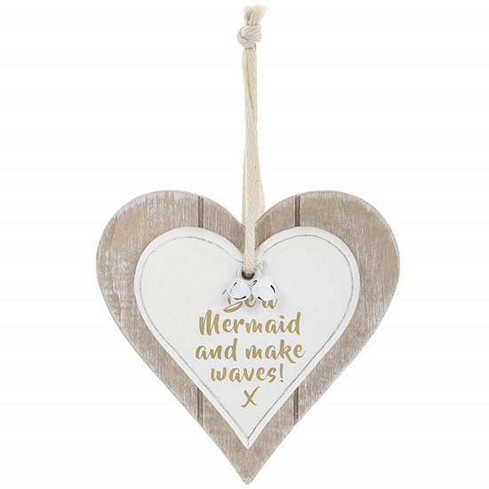 Heart Wooden Plaque Be Mermaid