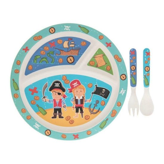 Pirate Bamboo Dinner Set