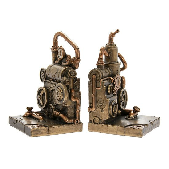 Steampunk Piston Power Bookends