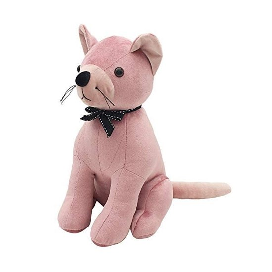 Velveteen Blush Pink Cat Door Stop