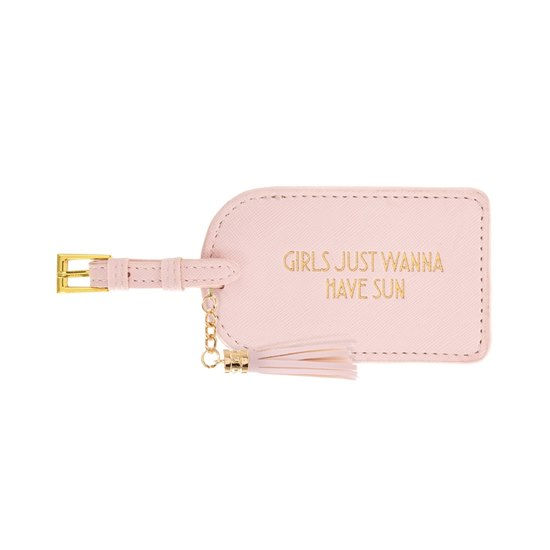 Shine Bright Girls Just Wanna Have Sun Luggage Tag