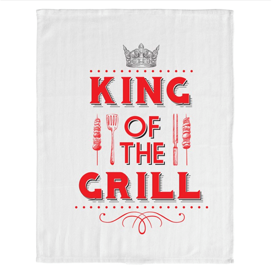 King of The Grill BBQ Tea Towel