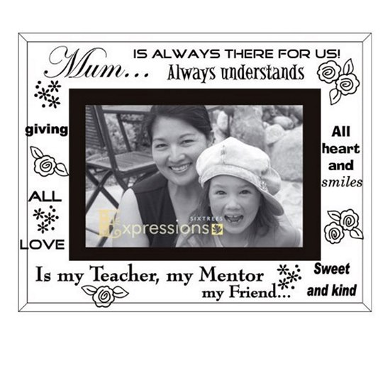 Mum Mirror Glass Photo Frame