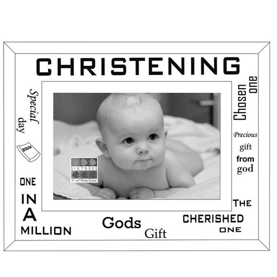 5016107015903 Christening Mirror Glass Photo Frame