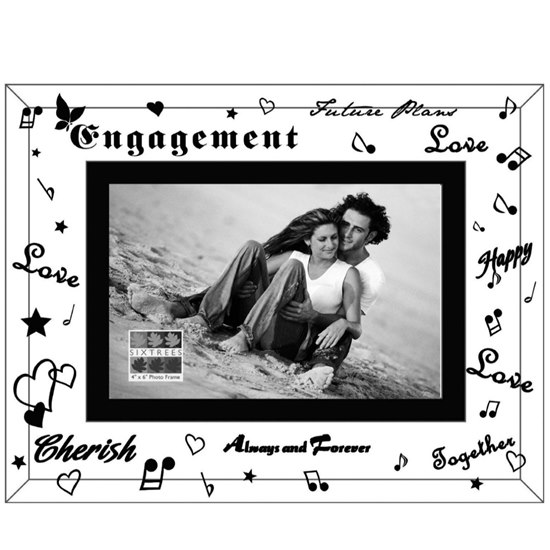 5016107019864 Engagement Mirror Glass Photo Frame