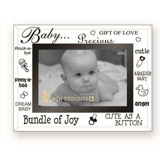 5016107100234 Baby Mirror Glass Photo Frame