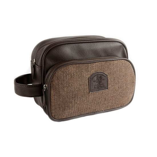 5016610650721 Brompton Langley Brown Mens Wash Bag