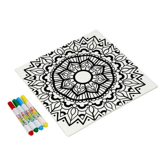 Mandala Colour in Trivet