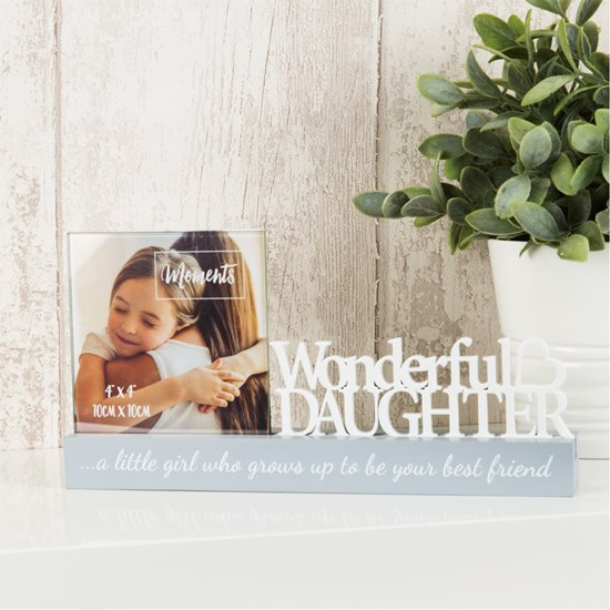 Celebrations Wonderful Daughter 4x4 Photo Frame