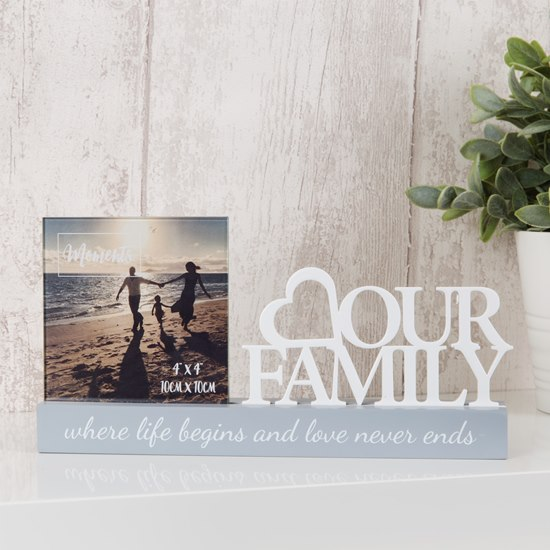 5017224810983 Celebrations Our Family 4x4 Photo Frame