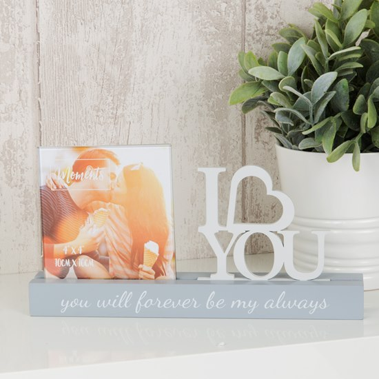 Celebrations I Love You 4x4 Photo Frame