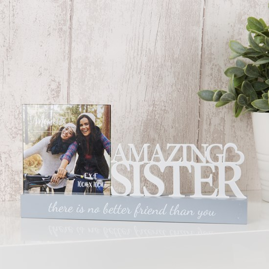 Celebrations Amazing Sister 4x4 Photo Frame