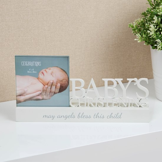 5017224857216 Celebrations Baby's Christening 4x4 Photo Frame