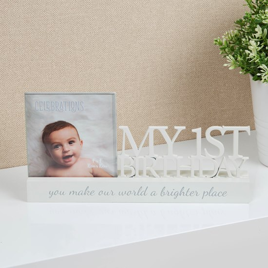 5017224857230 Celebrations My First Birthday 4x4 Photo Frame