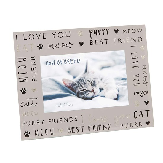BB475C Best Of Breed Mirror Glass Photo Frame -  Cat