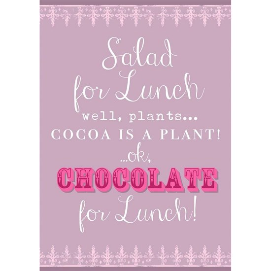 5019278982579 Chocolate For Lunch Tea Towel