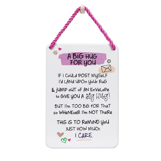 5019278993612 Metal Hanging Plaque - Big Hug