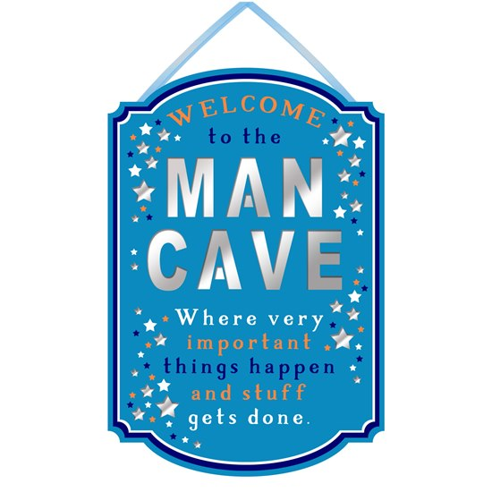 Hanging Plaque - Welcome to the man cave