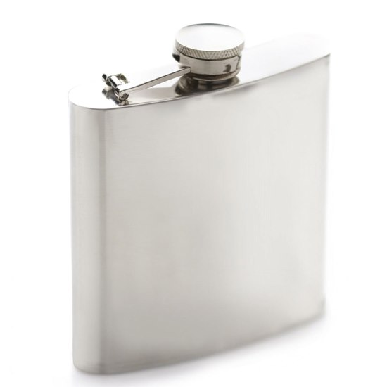 5028250517258 BarCraft Polished Stainless Steel Hip Flask
