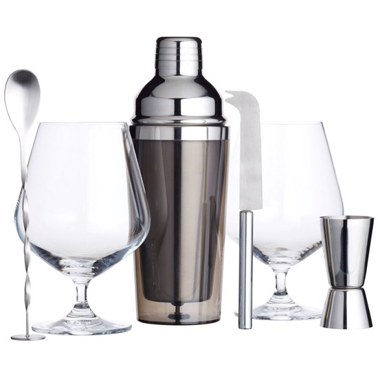 5028250713025 Barcraft Luxury Gin Cocktail Set 6PC