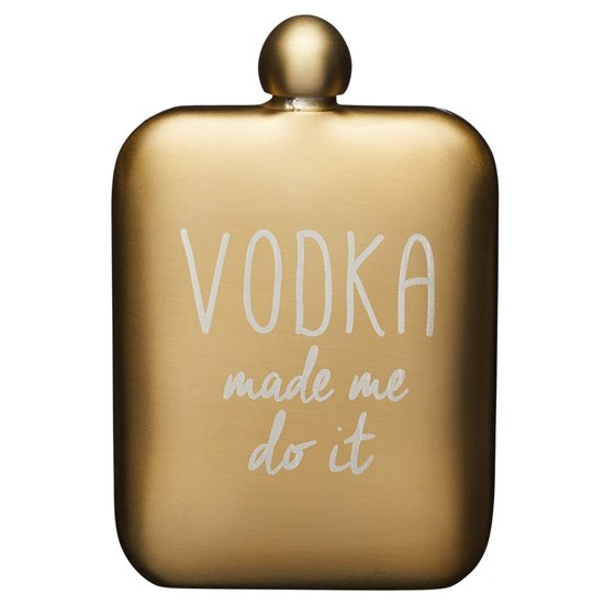 5028250794147 BarCraft Gold Hip Flask Vodka