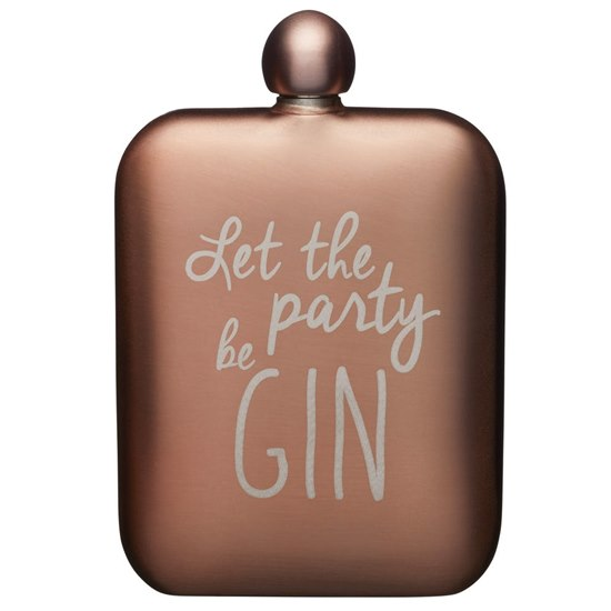 5028250800909 BarCraft Pink Hip Flask Gin