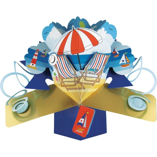 5034527248824 Deckchairs Pop Up Card