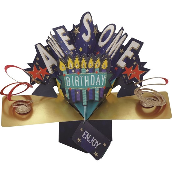 5034527272713 Awesome Birthday Pop Up Card