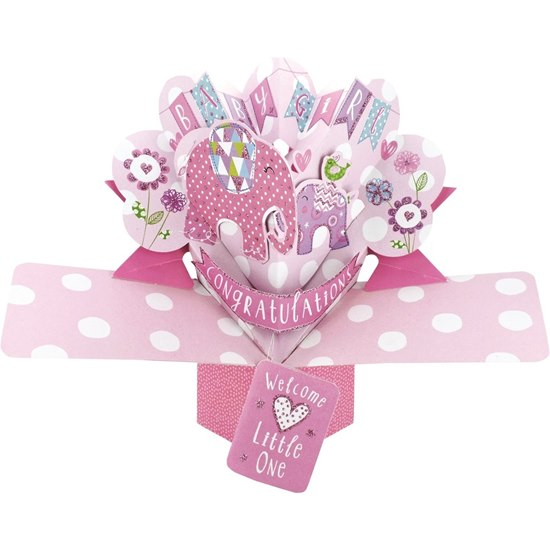 5034527277152 Baby Girl Pop Up Card