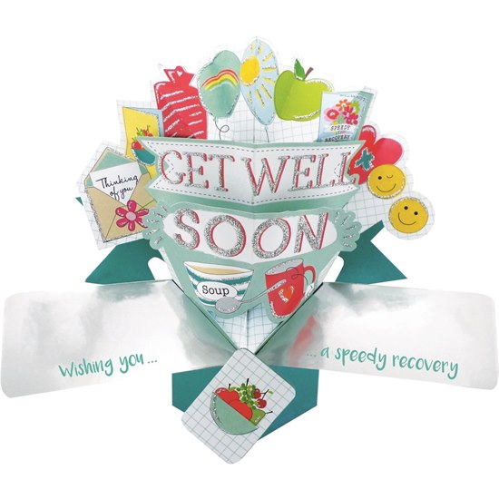 5034527277268 Get Well Soon Pop Up Card