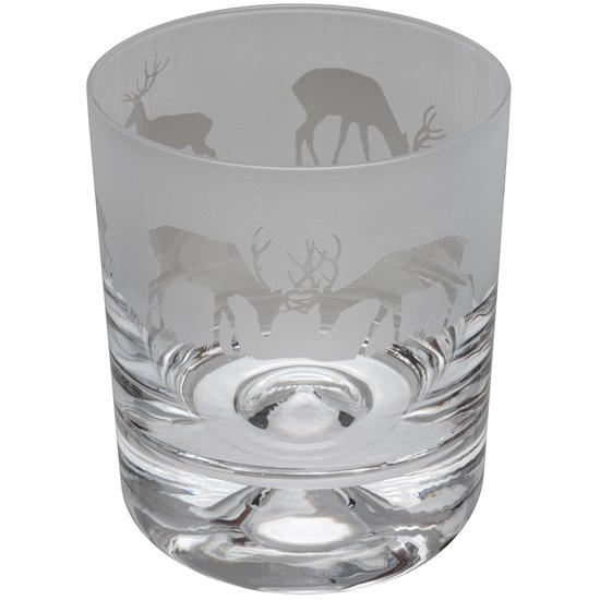 ANIMOT17AN Animo Glass Stag Crystal Tumbler