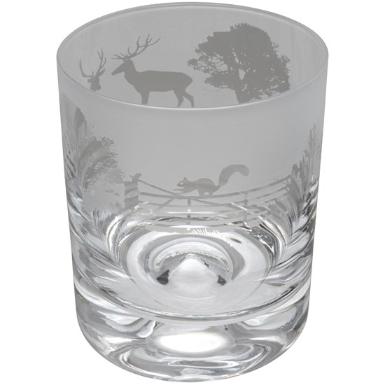 5035221009315 Animo Glass Whisky Tumbler Woodland